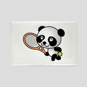 Tennis Panda Rectangle Magnet (10 pack)