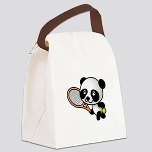 Tennis Panda Canvas Lunch Bag