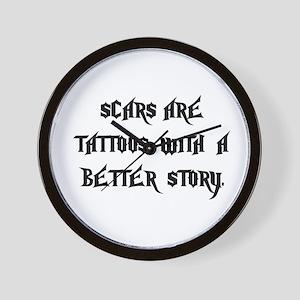 Scar Tattoos Wall Clock