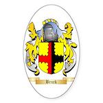 Bruck Sticker (Oval 50 pk)