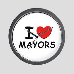 I love mayors Wall Clock