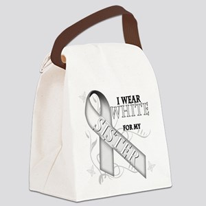 I Wear White for my Sister Canvas Lunch Bag