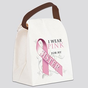 I Wear Pink for my Sister Canvas Lunch Bag