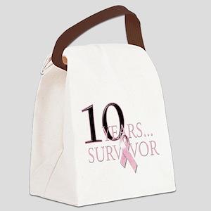 10 Years Breast Cancer Survivor Canvas Lunch B