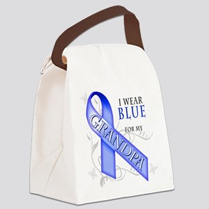 I Wear Blue for my Grandpa Canvas Lunch Bag