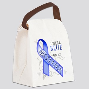 I Wear Blue for my Mother Canvas Lunch Bag