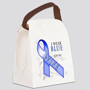 I Wear Blue for my Wife Canvas Lunch Bag