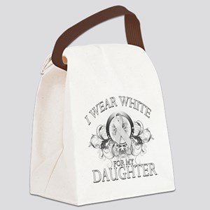 I Wear White for my Daughter (floral) Canvas L