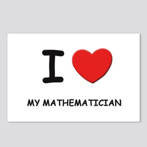 I love mathematicians Postcards (Package of 8)