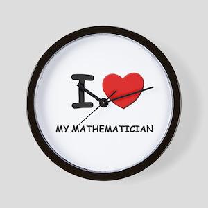 I love mathematicians Wall Clock