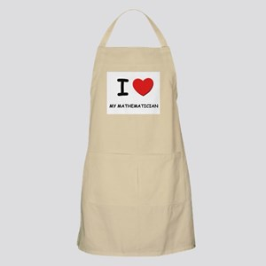 I love mathematicians BBQ Apron
