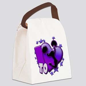 I Love to Cheer (Purple) Canvas Lunch Bag