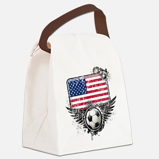 Soccer fans USA.png Canvas Lunch Bag