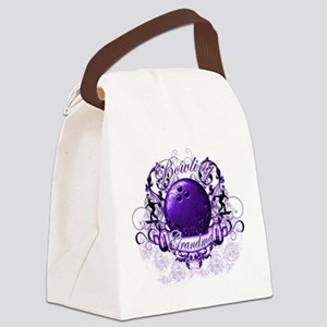 BowlingGrandma (purple) Canvas Lunch Bag