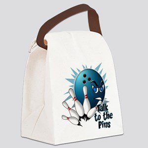Talk to the Pins Canvas Lunch Bag