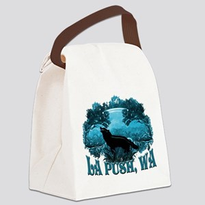 LA Push Wolf in Nature Canvas Lunch Bag