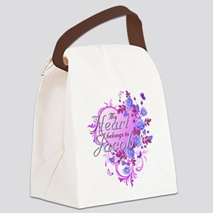 Heart belongs to Jacob Canvas Lunch Bag