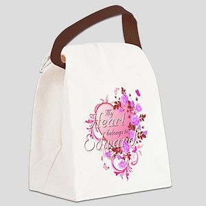 Heart belongs to Edward Canvas Lunch Bag
