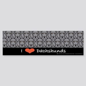 I Love Wirehaired Dachshunds Bumper Sticker