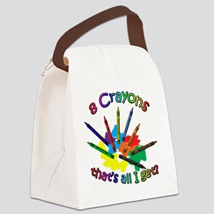 8 Crayons Canvas Lunch Bag