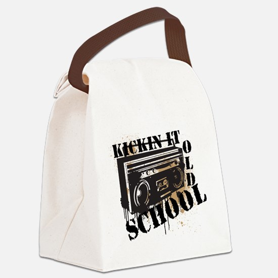 Kickin it Old School.png Canvas Lunch Bag