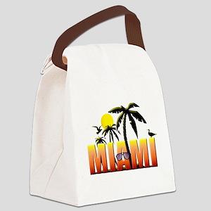 miami Canvas Lunch Bag