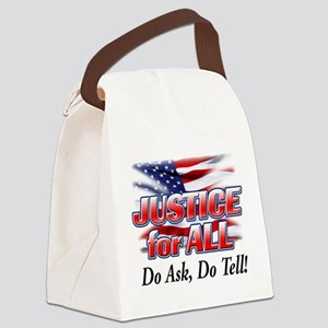 Justice For All copy Canvas Lunch Bag