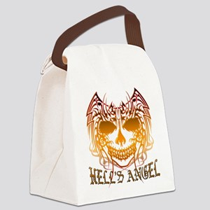 Angelic Skull Canvas Lunch Bag