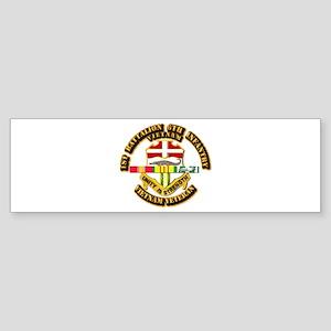 Army - 1-6th INF w Vietnam SVC Ribbons Sticker (Bu