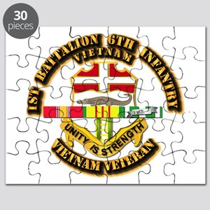 Army - 1-6th INF w Vietnam SVC Ribbons Puzzle