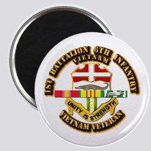 Army - 1-6th INF w Vietnam SVC Ribbons Magnet