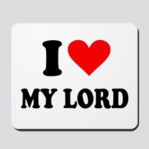 I Heart My Lord Mousepad