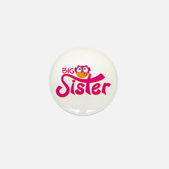 Owl Big Sister Print Mini Button