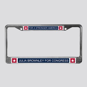 Elect Julia Brownley License Plate Frame