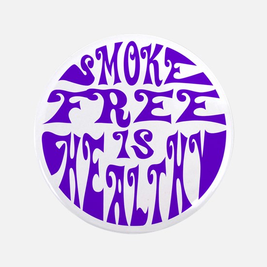"""Smoke free is healthy 3.5"""" Button (100 pack)"""