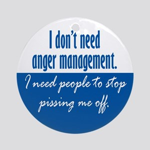 Anger Management Ornament (Round)
