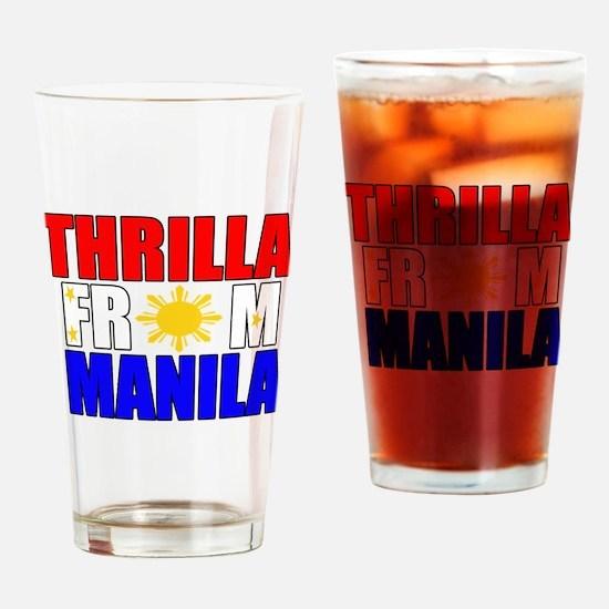 THRILLA FROM MANILA Drinking Glass