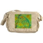 The Green Earth Abstract Messenger Bag