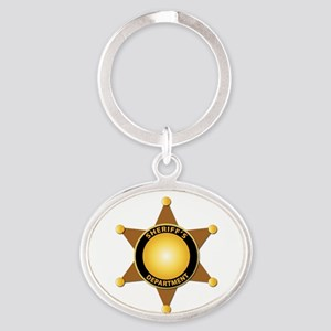 Sheriff's Department Badge Oval Keychain