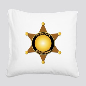 Sheriff's Department Badge Square Canvas Pillow