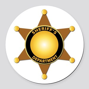 Sheriff's Department Badge Round Car Magnet