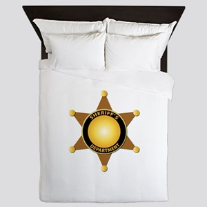 Sheriff's Department Badge Queen Duvet