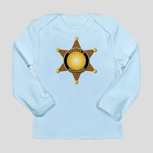 Sheriff's Department Badge Long Sleeve Infant T-Sh