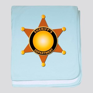 Sheriff's Department Badge baby blanket