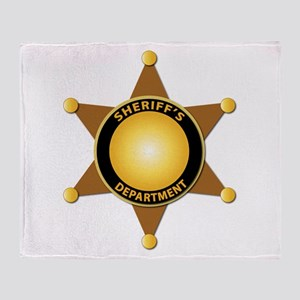 Sheriff's Department Badge Throw Blanket