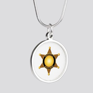 Sheriff's Department Badge Silver Round Necklace
