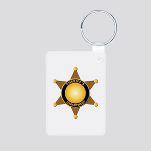 Sheriff's Department Badge Aluminum Photo Keychain