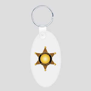 Sheriff's Department Badge Aluminum Oval Keychain