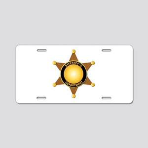 Sheriff's Department Badge Aluminum License Plate