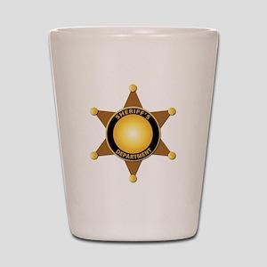 Sheriff's Department Badge Shot Glass